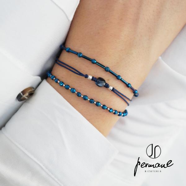 Komplet bransoletek z niebieskich kamieni – MADE OF STONE – PERMANE BIŻUTERIA 2