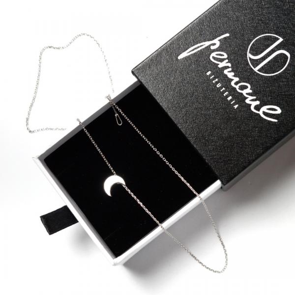 Srebrny rodowany naszyjnik z motywem księżyca – PERMANE BIŻUTERIA – Simple 2