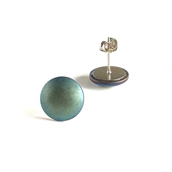 Kolczyki sztyfty z platerowanym hematytem – made of stone permane bizuteria 77