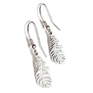 Kolczyki z piórkiem - boho - permane biżuteria 2