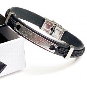 Personalizowana bransoleta ze splotem makramowym - for man -permane bizuteria 1