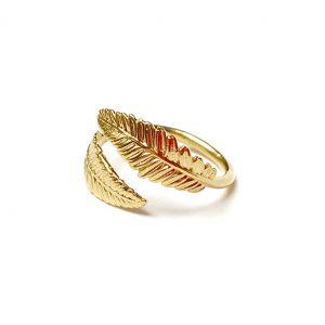 Pierścionek liście - boho - permane biżuteria 3