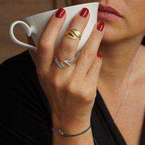 pierścionek liście_boho_permane bizuteria 4