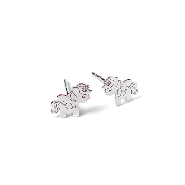 Kolczyki sztyfty jednorożce – kamini – permane bizuteria 25