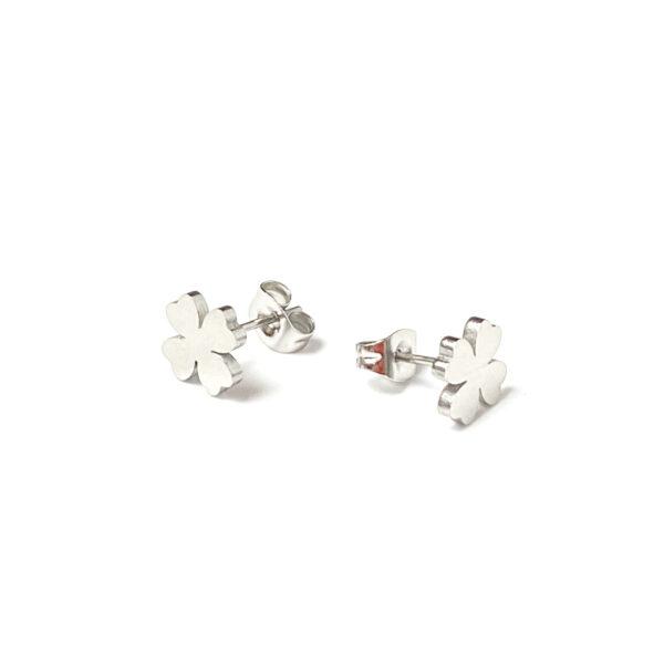Kolczyki sztyfty koniczynki – kamini – permane bizuteria 1