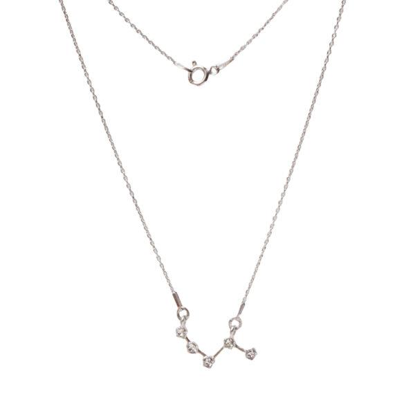 Srebrny naszyjnik znak zodiaku konstelacja baran- zodiak- permane bizuteria