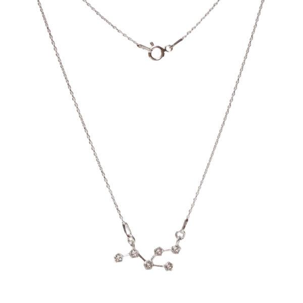Srebrny naszyjnik znak zodiaku konstelacja byk- zodiak- permane bizuteria