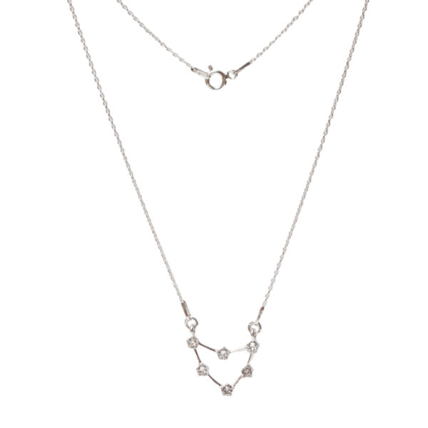 Srebrny naszyjnik znak zodiaku konstelacja koziorożec- zodiak- permane bizuteria