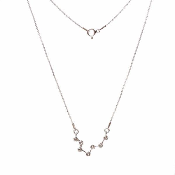 Srebrny naszyjnik znak zodiaku konstelacja ryby – zodiak- permane bizuteria